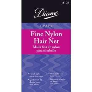 Diane Fine Nylon Hair Nets   Blonde (3 Pack) Beauty