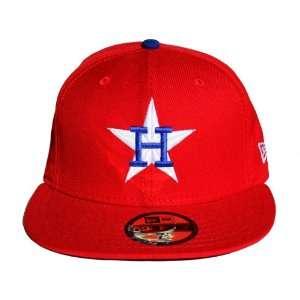 Houston Astros New Era 59Fifty MLB Red BW Cap Hat, 7 1/4