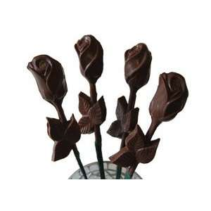 Chocolate Long Stem Roses   1 Dozen, for Grocery & Gourmet Food