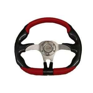 Honda Big Red Steering Wheel 1339(Red/Silver) Automotive