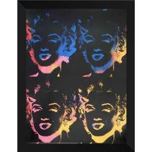 Andy Warhol FRAMED Art 28x36 Marilyns X 4 Multicolor