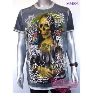Funny Mona Lisa Art Rock Punk Tattoo Street T Shirt L