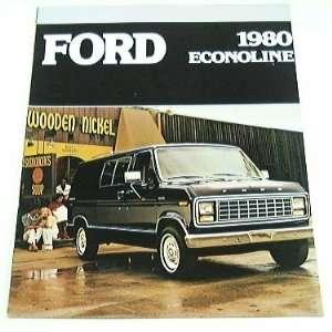1980 80 Ford ECONOLINE Van BROCHURE E100 E150 E250 E350