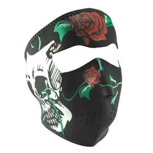 ZANheadgear Black/Red Comedy/Tragedy Skulls Neoprene Face