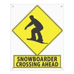 Gift sign Snow board X games sport steet sign funny