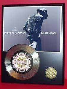 JACKSON GOLD 45 RECORD LIMITED EDITION LASER ETCHED W/SONGS LYRICS