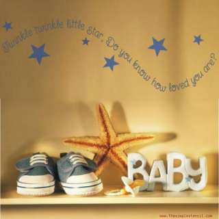 Twinkle Star Wall Decal Kids or Baby Room SimpleStencil