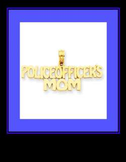 NEW SOLID 14K Y GOLD POLICE OFFICERS MOM CHARM/PENDANT