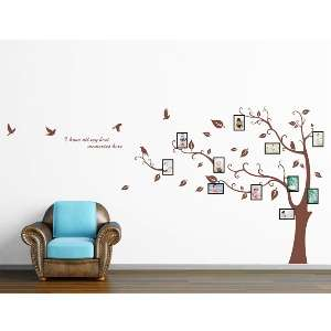 Memory Tree PVC Wall Decal Stickers   Brown * USA Seller*