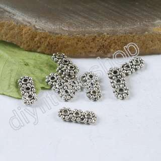 Wholesale 170 pcs Tibetan Silver Bali 3 HOLE Spacer Bars h0234