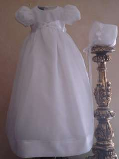 NWT CATHEDRAL LENGTH GIRLS CHRISTENING BAPTISMAL GOWN DRESS 6 9 12