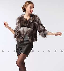 0307 silver fox fur coat coats jacket jackets overcoat clothes for
