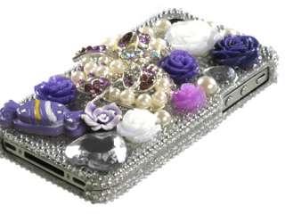 3D BLING RHINESTONE DIAMOND HARD CASE COVER APPLE IPHONE 4 4S