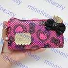 Sanrio Hello Kitty Clutch Sequin Pink Luxury Long Zippe