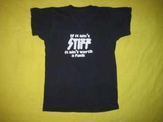 Vtg 70s STIFF RECORDS T SHIRT the damned voidoids punk