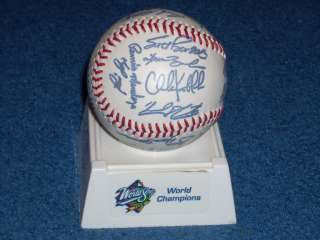 1998 World Series Yankees World Champions Autographed Signed Baseball