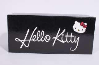 NEW WOMENS HELLO KITTY BLACK CARMINE BOW BALLERINA BALLET FLATS SHOES