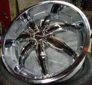 20 Wheels 4 & 5 Bolt CHROME+BLACK RIMS RockStar 615