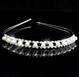 Choose Style Crown Veil Tiara Headband Bridal Pageant Prom Crystal