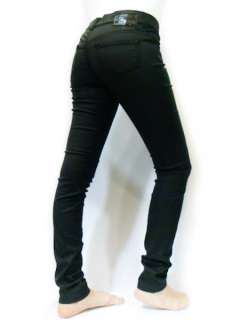 NWT Diesel Women Coated Jeans Like Leather Pants, Black Color