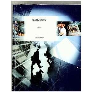 Quality Control (9780390164582) Park University Books