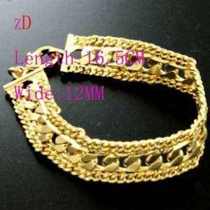 Hf109 10g Elegant 18K Yellow Gold Plated Chain Bracelet
