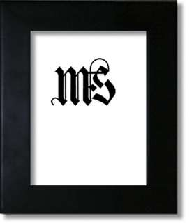 6x8 Picture/Photo Frame, Solid Wood, Black, #634