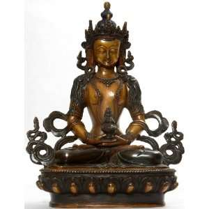 Amitayus   The Buddha of Long Life   Copper Sculpture