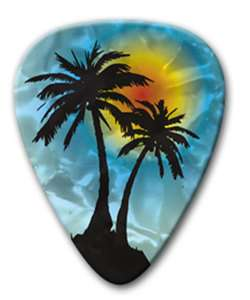 12 Lot Bulk PALM TREE TROPICAL Medium Celluloid 351 Guitar Picks