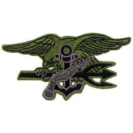 PATCH USN U.S. NAVY SEALS TRIDENT OLIVE SUBDUED CAP HAT JACKET PATCH
