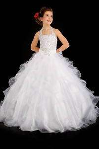 Perfect Angels 1305 White Girls Pageant Gown 6