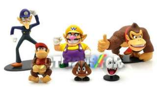6pcs Super Mario Bros New Figure Toy Doll/MS1493