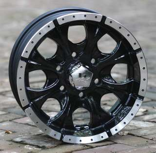 16 inch Black Wheels/Rims HELO Maxx Chevy Truck 6 lug