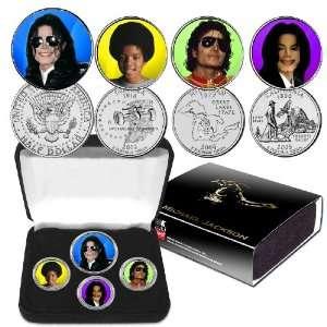 Michael Jackson  Four Piece Colorized Coin Set