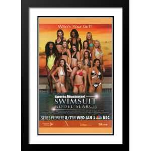 Sports Illustrated Swimsuit Model 20x26 Framed and Double Matted