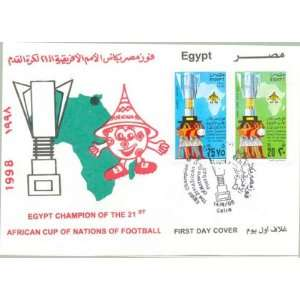 Egypt First Day Cover Extra Fine Condition 21st African Cup of Nations