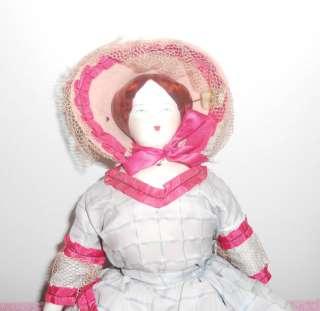 Doll Ruth Gibbs China Doll 1950s Original Costume Large