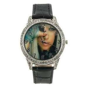 Lady Gaga Watch Fashionable Design Leather Band Womens Electronic