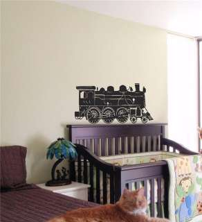 KIDS WALL ART STICKER BABY ROOM NURSERY BOY GIRL BEDROOM FUNNY TRAIN