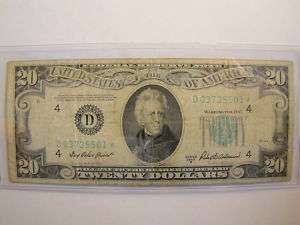 1950B Twenty Dollar Cleveland Fed Star Note