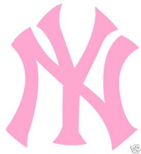 NEW YORK YANKEES LADIES PINK AUTO CAR VINYL DECAL