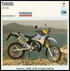 Motorcycle Card 1988 Yamaha 125 DTR dual sport DT 125R