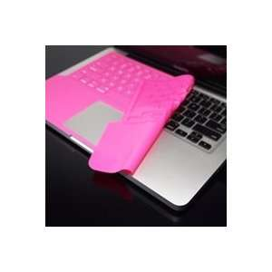 TopCase SOLID PINK Keyboard Silicone Skin Cover with palm