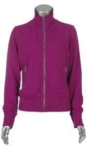 Sutton Studio Womens Cotton Blend Casual Athletic Mock Neck Zipper