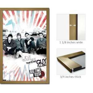 Gold Framed Big Time Rush Any Guy Poster 5656