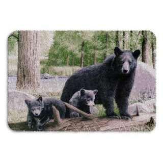 Super Plush Queen Size Blanket Black Bears 79 x 95 Blankets |