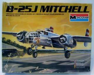 Model Kit Monogram B 25J Mitchell 1981 NIB 5502 148