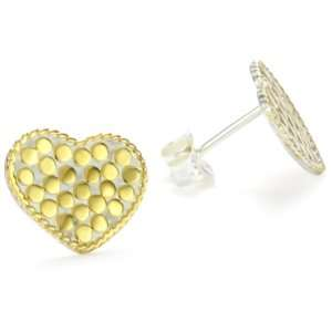 Anna Beck Designs Gili Wire Rimmed Heart 18k Gold Plated