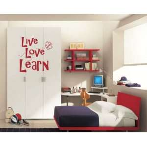 Live Love Learn Sports Vinyl Wall Decal Sticker Mural Quotes Words