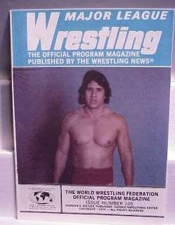 1979 WWF Wrestling News Program Magazine Tito Santana